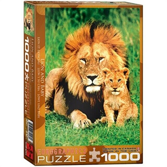 Puzzle Lion & Baby Eurographics 1000pc