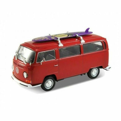 VW Bus T2 With Surfboard Red 1972 (scale 1 :24)