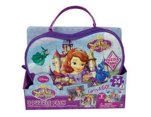 Puzzle 24pc x 3 Sofia The First In Bag