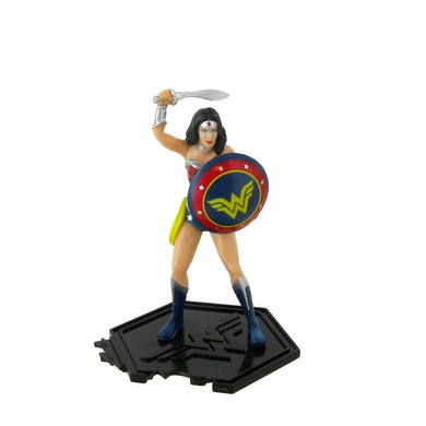 Wonder Woman Figurine - The Justice League is a team of superheroes from comics made up of the main characters of the DC Universe. The original and most well-known formation includes characters like: Superman, Batman, Wonder Woman, The Flash, Green Lantern, Aquaman and Cyborg. The Justice League is one of the main publications of the DC Comics publishing house