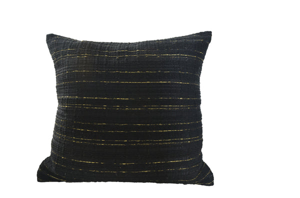 Atelier Nihal Black & Gold Wool Pillow