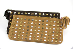 Lalla Marrakech Liberte Studded Clutch