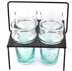 Tea Glasses with Metal Holder