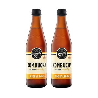 Kombucha Ginger & Lemon [330ml] x 2 Btls-Taste Singapore