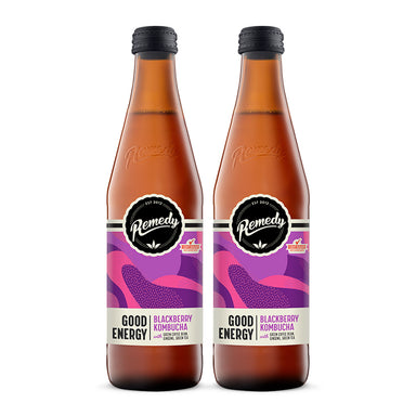 Kombucha Good Energy Blackberry [330ml] x 2 Btls-Taste Singapore