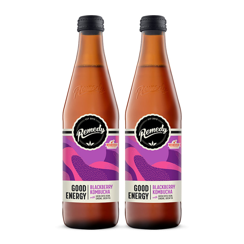 Kombucha Good Energy Blackberry [330ml] x 2 Btls