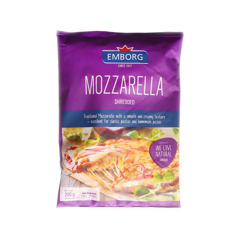Natural Shredded Mozzarella [200g]