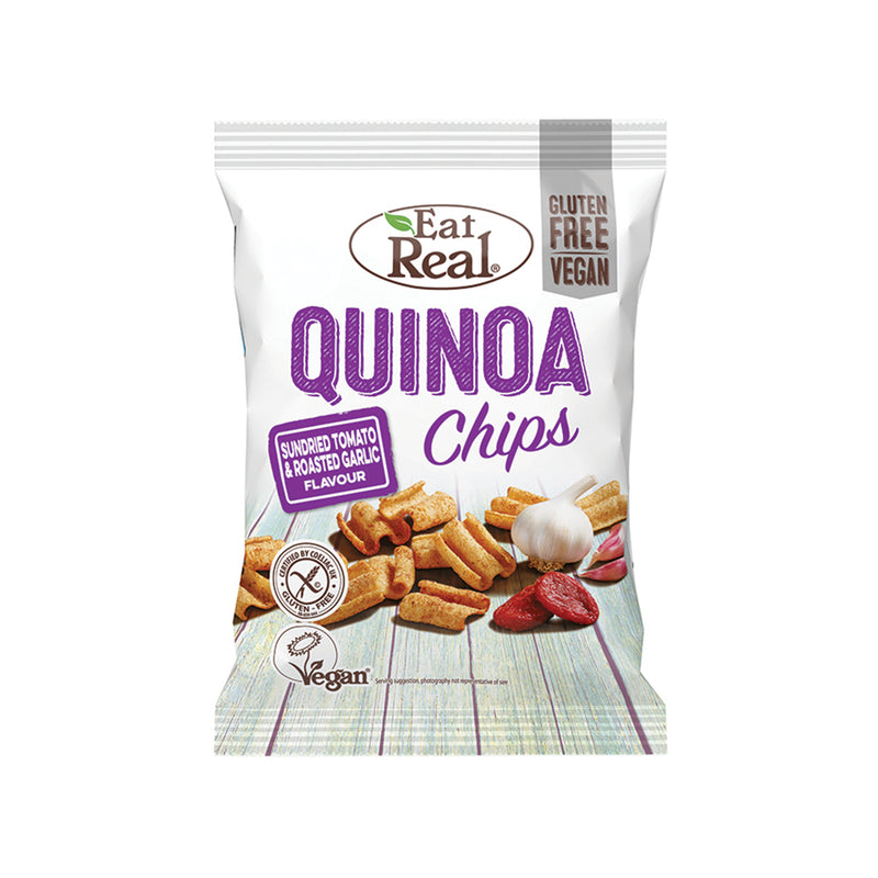 Quinoa Chips Snack Sundried Tomato & Roasted Garlic [80g]