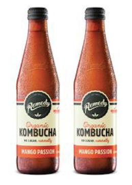 Remedy Kombucha Mango Passion [330ml] X 2 Btls-Taste Singapore