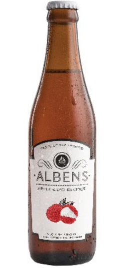 Alben's Apple & Lychee Cider [330ml]-Taste Singapore