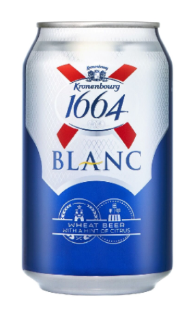 Kronenbourg 1664 Blanc Wheat Beer Can [320ml]-Taste Singapore