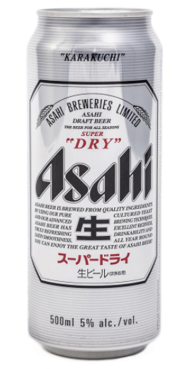 Asahi Super Dry Draft Beer Can [500ml]-Taste Singapore