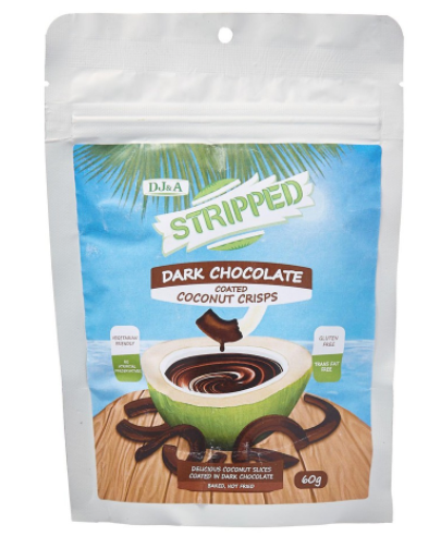 Stripped Coconut Crisps Dark Chocolate [60g]-Taste Singapore