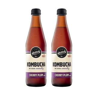 Kombucha Cherry Plum [330ml] x 2 Btls-Taste Singapore