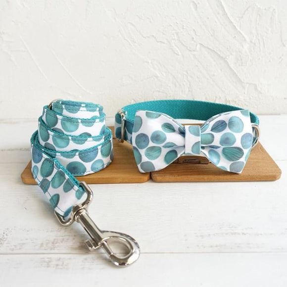 Pet leash dog hoop bow tie jewelry - Blue / M - Home & Garden Furniture / Pet Products / Dog Supplies