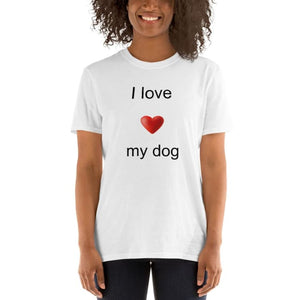T-shirt manches courtes I love my dog - S