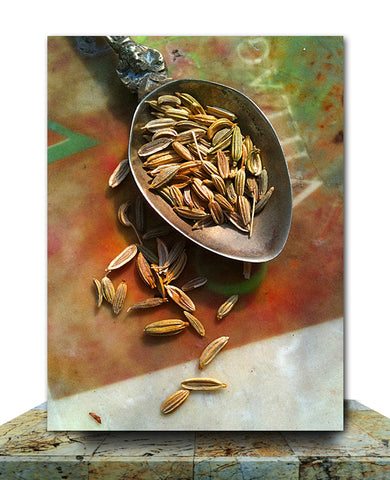 Anise Seeds Wrapped Canvas Print