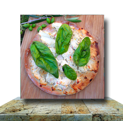 Basil Pizza Wrapped Canvas Print