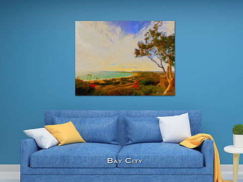 Bay City Wall Print 60x40