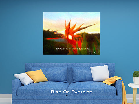 Bird of Paradise Wall Print 60x40