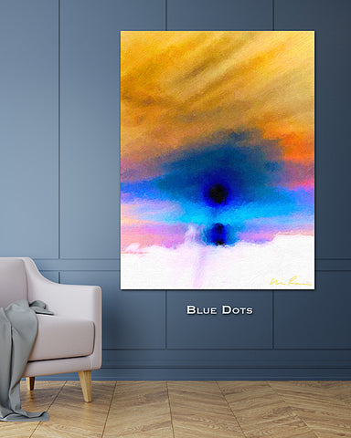 Blue Dots Wall Print 60x40