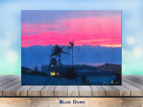 Blue Dusk Wrapped Canvas Print