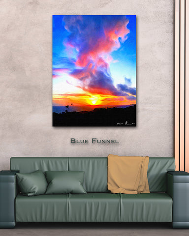 Blue Funnel Wall Print 40x60