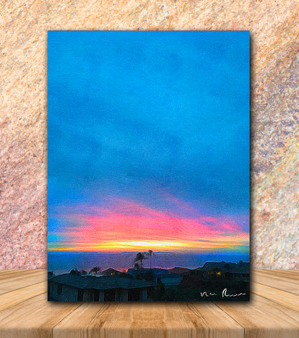 Blue Heaven Wrapped Canvas Print