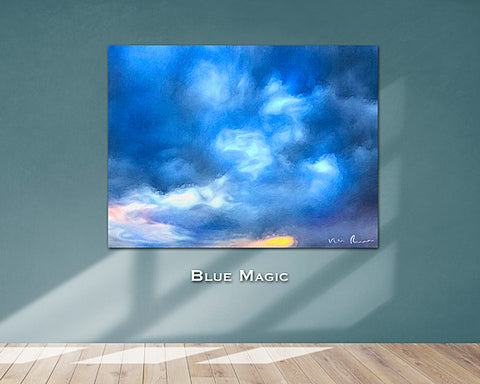 Blue Magic Wall Print 60x40