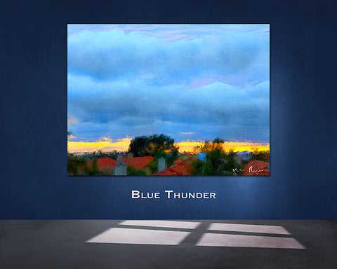Blue Thunder Wall Print 60x40