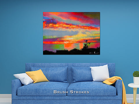 Brush Strokes Wall Print 60x40