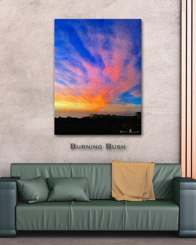 Burning Bush Wall Print 40x60