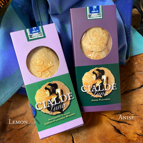 Combo Box Set of Cialde Luna Wafer Cookies - Lemon and Anise flavored