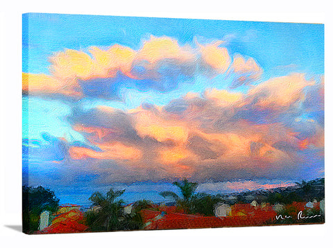 Cloud Bank Wrapped Canvas Print