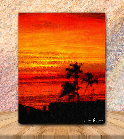 Crimson Tide Wrapped Canvas Print 11x14