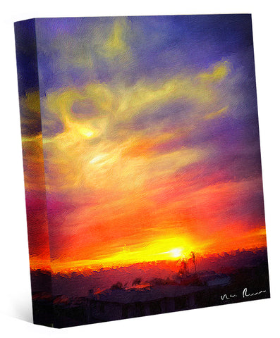 Fire Pit Wrapped Canvas Print 11x14