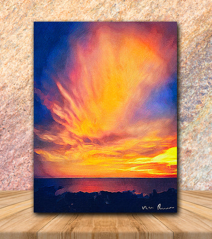Gold Dust Wrapped Canvas Print