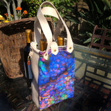 Grape Harvest 2 Bottle Leather/Canvas Bag — Tricarico, Italy