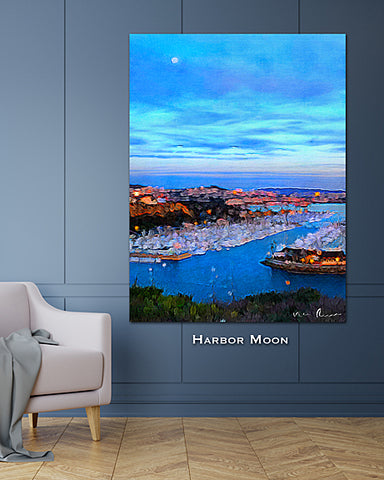 Harbor Moon Wall Print 40x60