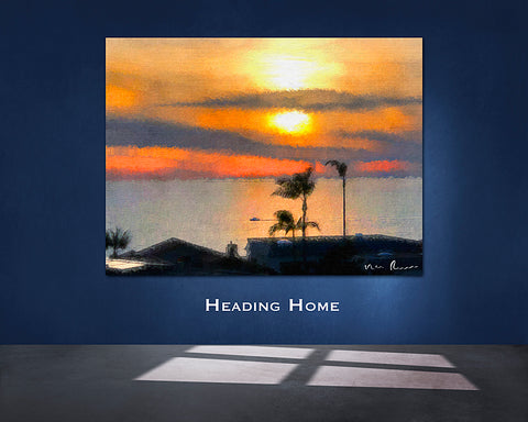 Heading Home Wall Print 60x40