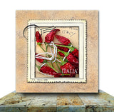 Red Italian Chili Wrapped Canvas Print