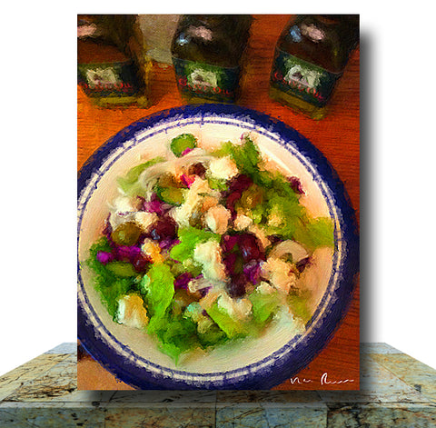 Italian Salad Canvas Print 11 x 14