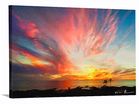 Kaboom Wrapped Canvas Print