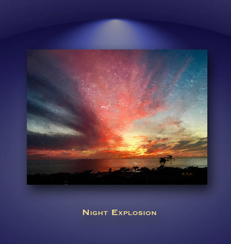 Night Explosion Wall Print 60x40
