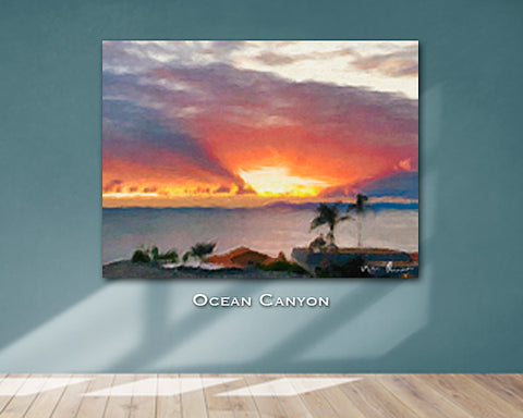 Ocean Canyon Wall Print 60x40