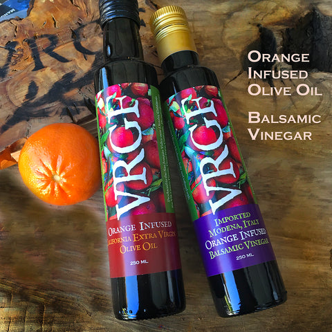 VRGF Orange Infused Oil and Vinegar Set