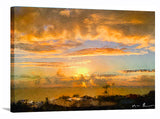 Painter's Landscape Wrapped Canvas Print