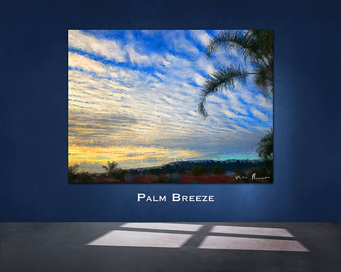 Palm Breeze Wall Print 60x40