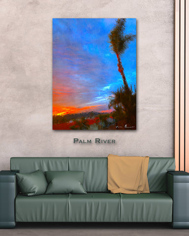 Palm River Wall Print 40x60
