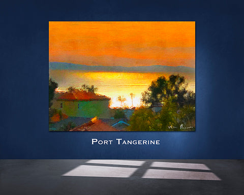 Port Tangerine Wrapped Wall Print 60x40